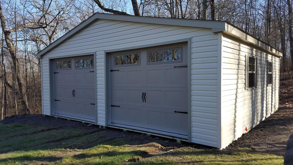 2 car garage pennsylvania maryland and west virginia for Garage door widths double