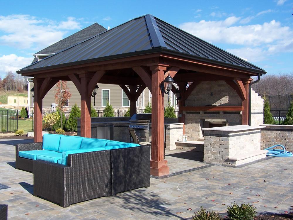 Wood pavilions pennsylvania maryland and west virginia for Pavilion blueprints