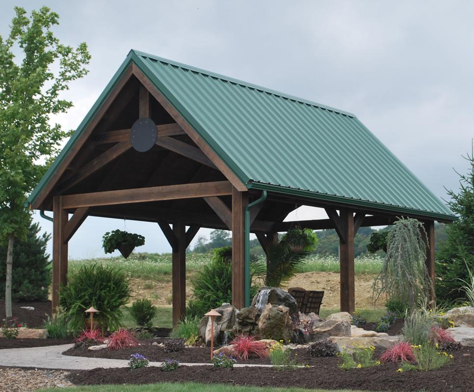 14x24 Metal Carport : Wellington pavilions shawnee structures